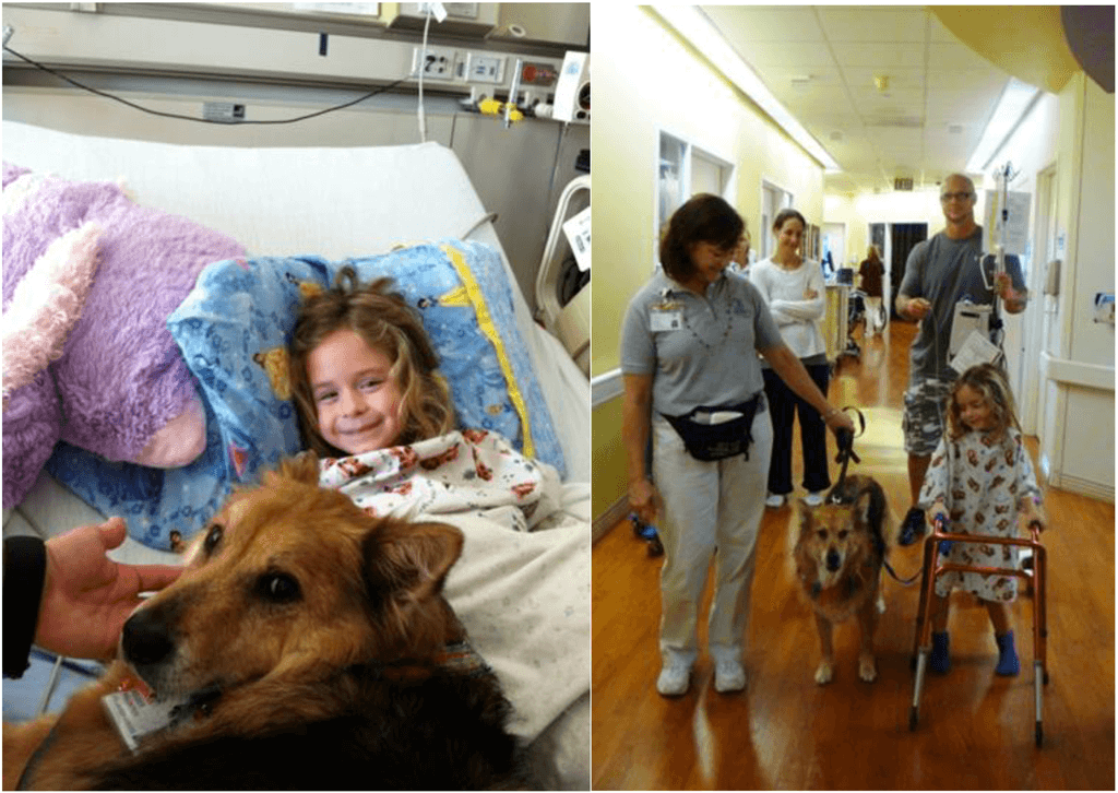 """Jordan greets """"Jenna"""" and walks with her as a first step to recovery."""